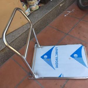 Xe đẩy hàng inox 4 bánh 300kg